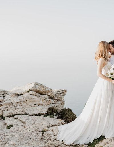 Schleppe Brautkleid mit Spitze