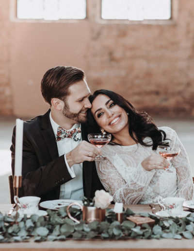 Brautkleid spitze, hochgeschlossen & lange Arme